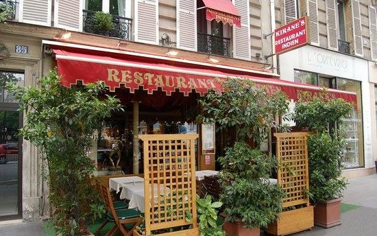 terrasse du Kirane's restaurant indien